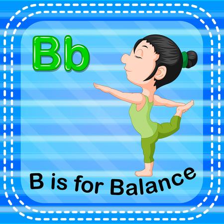 Flashcard letter B is for balance Çizim