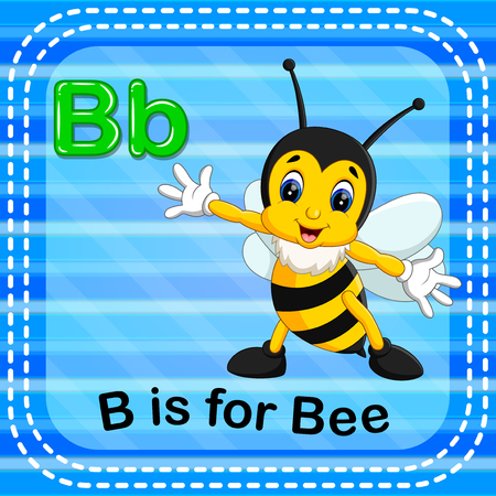 Flashcard letter B is for bee Stok Fotoğraf - 93073970