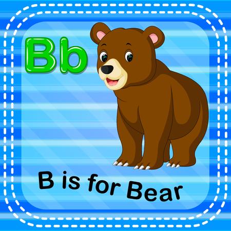 Flashcard letter, B is for bear design
