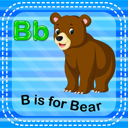 Flashcard letter, B is for bear design