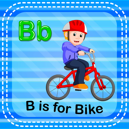 Flashcard letter B is for bike Stock Photo