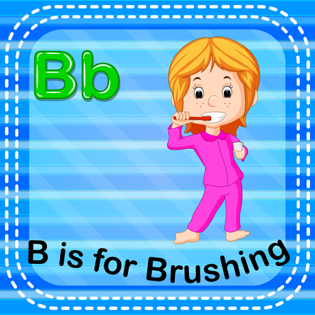 Flashcard letter B is for brushing Stock Photo