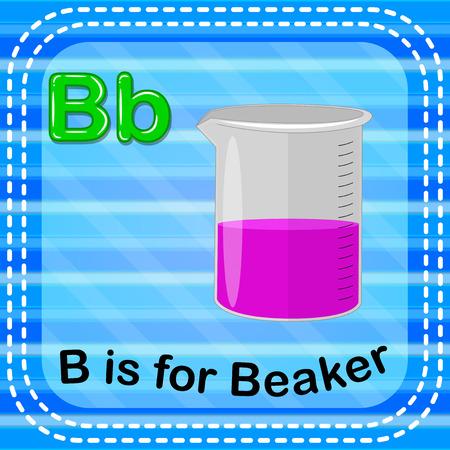 Flashcard letter B is for beaker