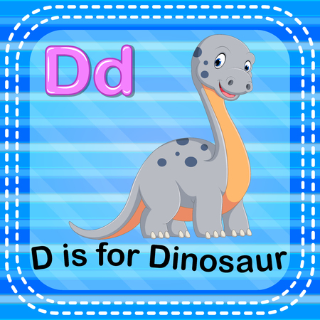 Flashcard letter D is for dinosaur Stock Photo