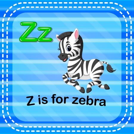 Flashcard letter Z is for zebra