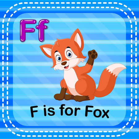 Flashcard letter F is for fox Stock fotó - 93123662