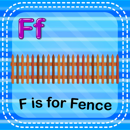 Flashcard letter F is for fence