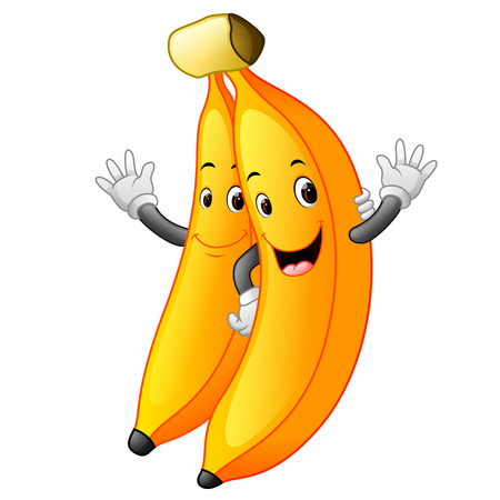 Bananas with face