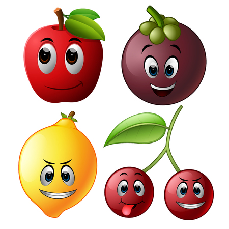 Fresh fruit with face