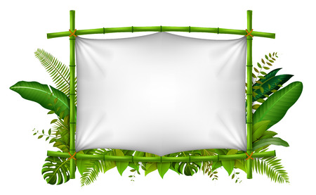 Empty frame made of bamboo