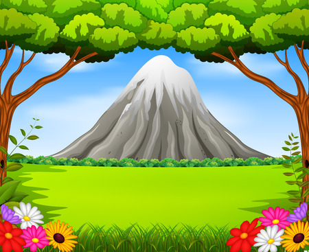 Beatiful mountain in forest