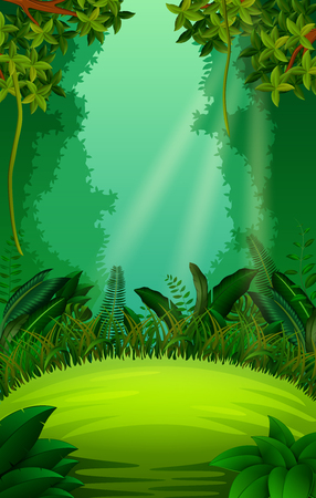 clean and green forest 矢量图片