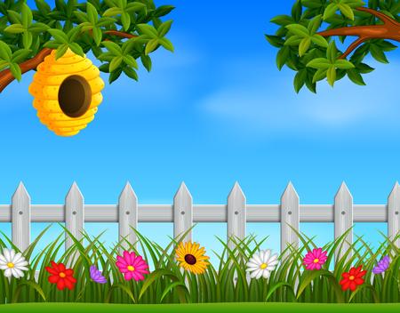beehive in the garden