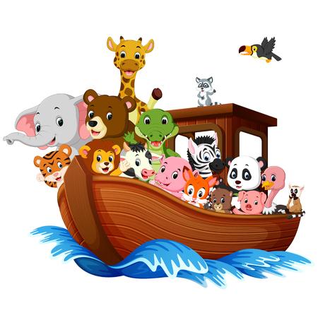 Noahs Arche Cartoon Standard-Bild