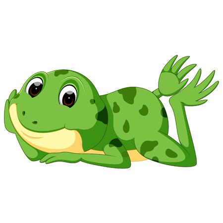 Cute frog cartoon Stock Vector - 96682684