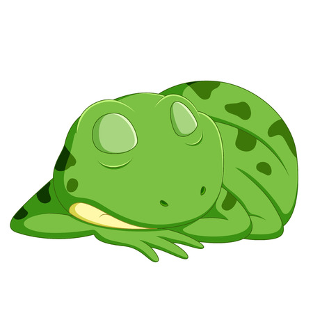cute frog cartoon Stock Photo