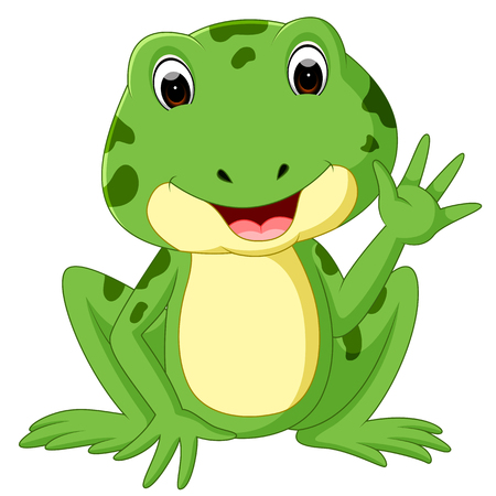Cute frog cartoon icon