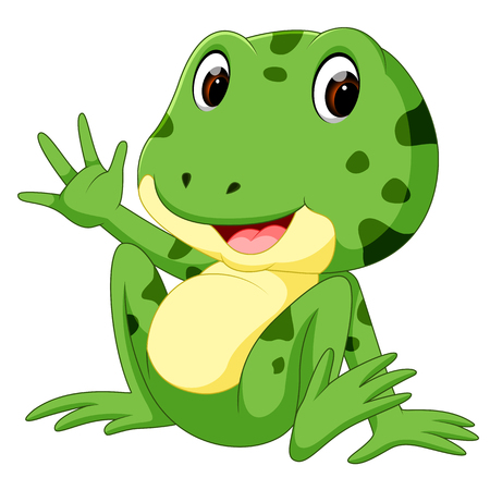 cute frog cartoon Standard-Bild