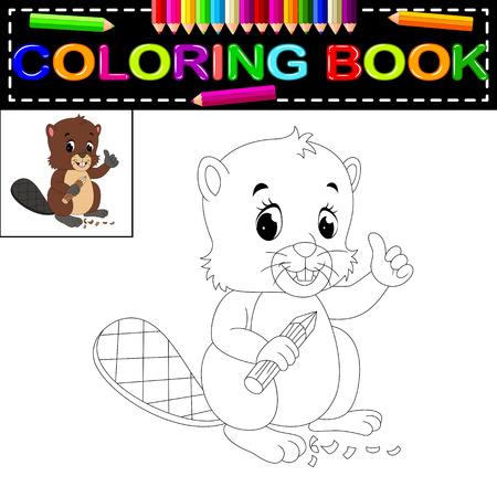 beaver coloring book