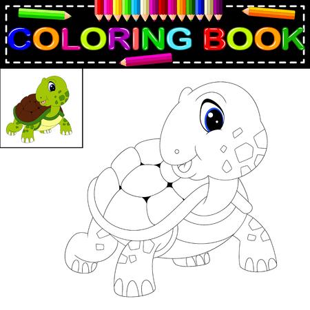Color Por El Número De Juegos Educativos Para Los Niños. Tortuga De ...