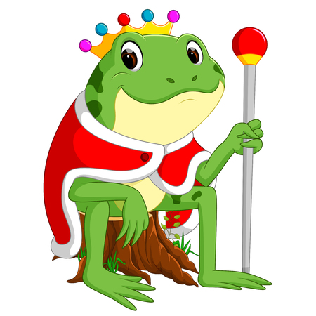Green frog with using crown