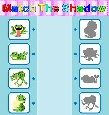 Find the correct shadow of the frog