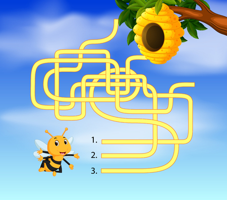Help bee find path to beehive