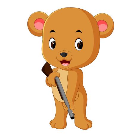 bear holding gun