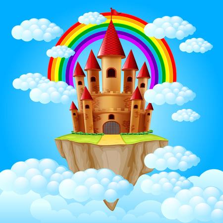 the castle above a cloud