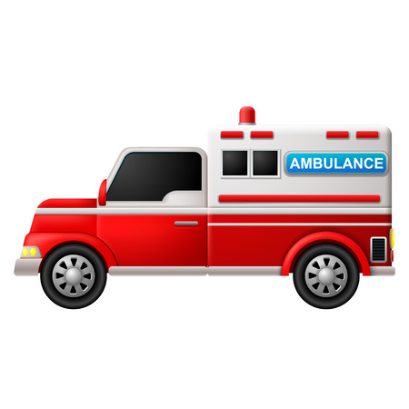 Illustration of an ambulance on a white background Illustration