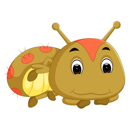 a brown caterpillar cartoon Illustration