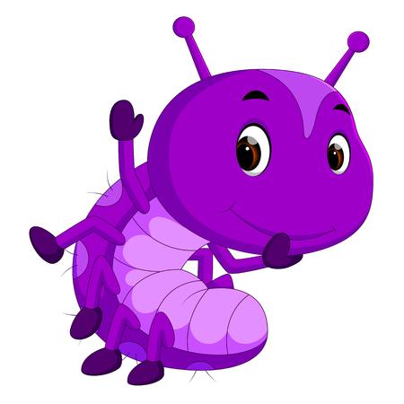 a purple caterpillar cartoon