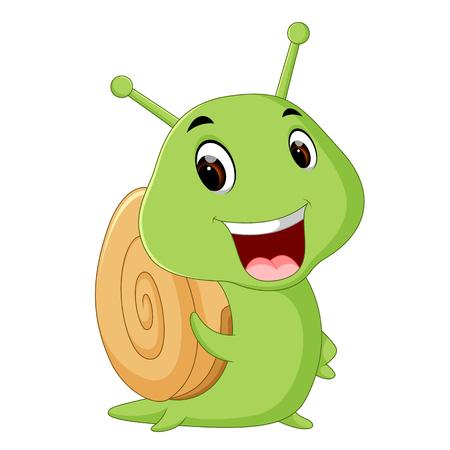 a smiling snail
