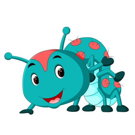 a blue caterpillar cartoon Stock Photo