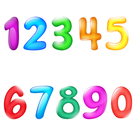 colorful numbers balloon