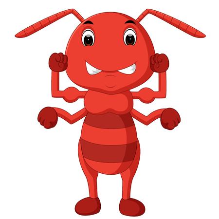 cartoon ant strong Illustration