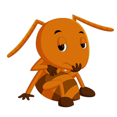 cute brown ant sadness