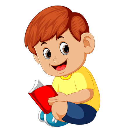 Image result for reading cartoon book