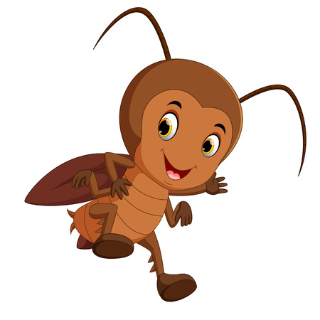 cartoon cockroach flying