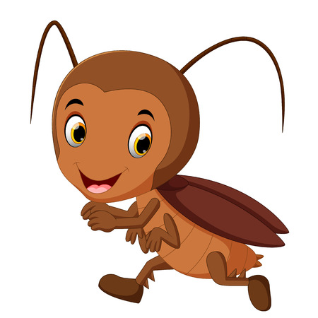 funny cockroach running Stock Photo