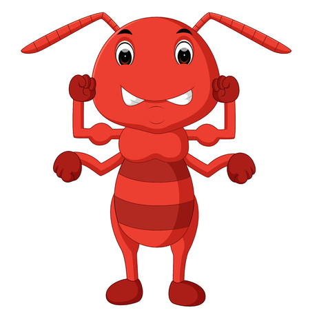 cartoon ant strong Stock Photo