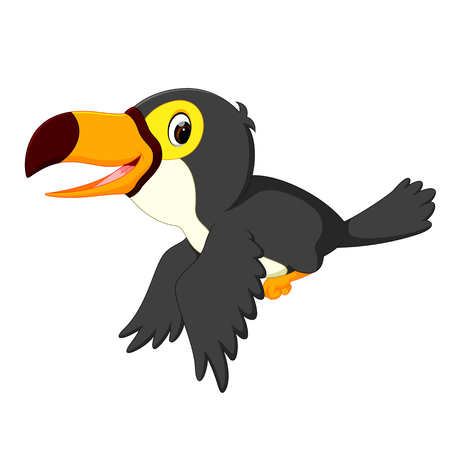 happy bird toucan flying Stock Photo - 102057054