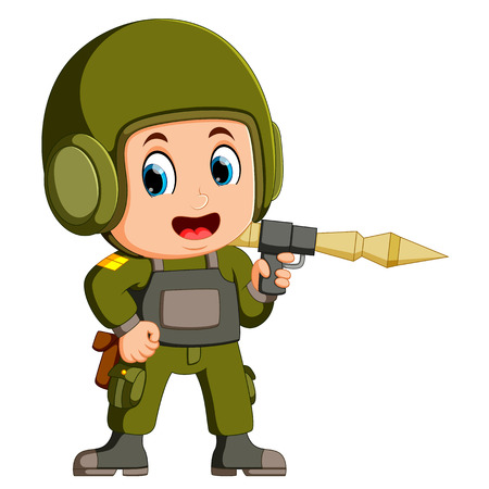 soldier with anti-tank rocket launcher