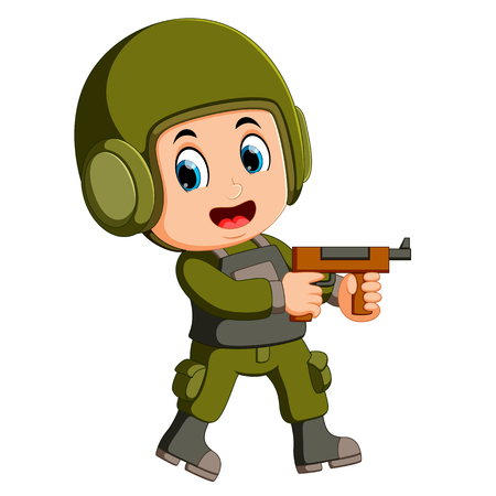 Soldier with rifle Illustration