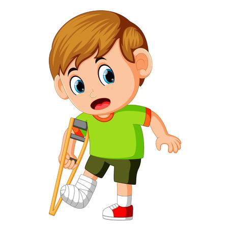 boy with broken leg