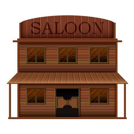 building saloon in western styles Standard-Bild - 103110414