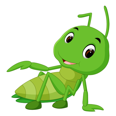 Praying mantis cartoon Vettoriali