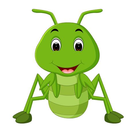 Praying mantis cartoon Stock Photo