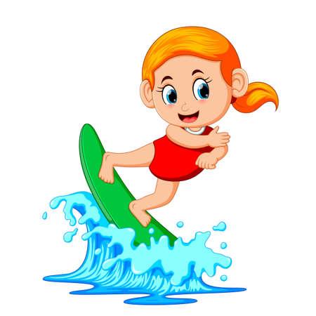 Surfer on blue Ocean Stock Photo