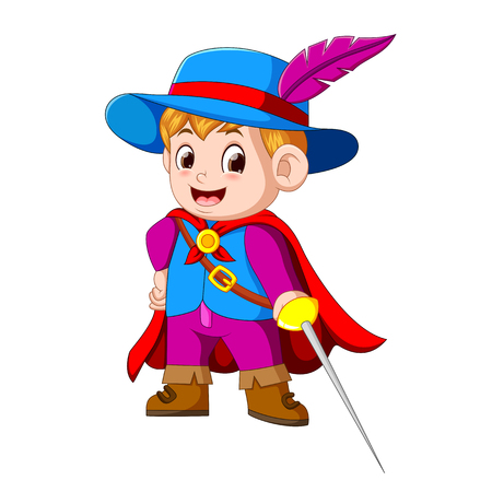 young musketeer with sword